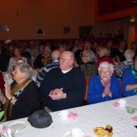 En glad och entusiastisk publik...