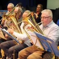 """Trombone och baryton på samma gång!!! Peter Andersson, Göran Rosenmüller """"skymd"""", Steno Johansson, Roger Appelqvist."""