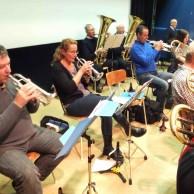 Fint och grovt, Kornett Jan Marberg, Eva Larsson,Trumpet Tommy Persson, Mikael Björk. Basar; Roland Svensson, Magnus Svensson.