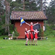 Westerviks Twirling Troup visade sina färdigheter under hembygdsdagen.