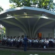 Marschen Ölansbron spelades bland annat.  Arrangemang av Gunnar Andersson.