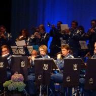 Musikkårens trumpet och flöjtsektion..och en klarinett