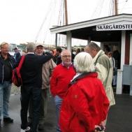 Gunnebo Musikkår till Idö samling vid båten.