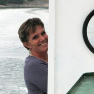 "Kanske båtens nya ""Kapten"" , Susanne Israel."