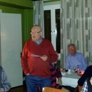 Ordförande Ola Ålstam tackade alla musikanter för ett fint spelår.