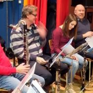 """Sören Jonsson """" Basklarinett """" . Lars Månsson , Hanna Israel och Tommy Olofsson klarinett."""