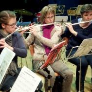 Flöjtflickorna : Sara Kånåhols , Eva Henell , Susanne Israel.