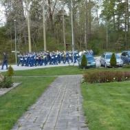 Musikkåren på Marsch mot Gunnebo centrum för konsert.
