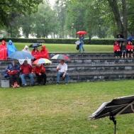 Så kom då regnet och Gunnebomusikkår till Stadsparken