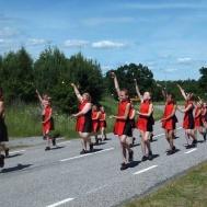 Duktiga Westerviks Twirling Troop var också med på hembygdsdagen.