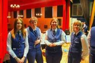 Glada flöjt och klarinett tjejer  Hanna, Susanne, Malin och Eva.