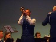 """Tommy Persson var exellent trumpetsolist i """"la vie en Rose""""."""