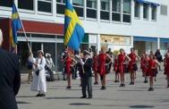 Klart för avmarsch till Svensk Polismarsch