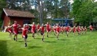 Duktiga flickor i Westerviks Twirling Troop