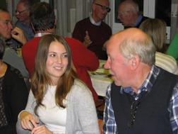 Musikkårens och Västerviks Lucia 2015 Hanna Israel i samspråk med Tommy Olofsson