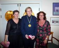 """Årets """"meteorologpris"""" gick till David Nordlund : Ung,lovande, lojal trumpetare som har framtiden för sig."""