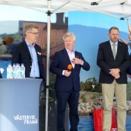 Från vänster Gotlandsbåtens VD Ralph Axelson, Styrelsens ordförande Stefan Daun, Tomas Kronståhl och Harald Hjalmarsson.