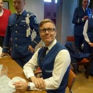 Patrik Ålstam fyller som vanligt år denna dag och gratulerades av musikanterna med hurrarop och sång.