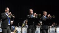 """Trumpetarna  Jesper Sörensen   Tommy Persson och  Mats Nilsson framförde """"Burglers Holiday"""""""
