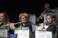 Musikkårens flöjttister  Eva Henell och Susanne Israel