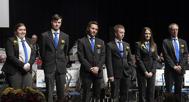 För medlemskap i Gunnebo Musikkår 6 år, Märkesnål blå. Sofia Marberg, Michael Björk, David Israel, Joel Nilsson, Hanna Israel, Anders Nilsson.