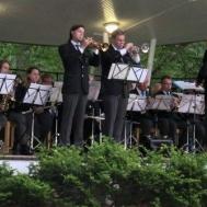 Trumpetsolister Michael Björk och David Nordlund