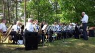 Gunnebo Musikkår på hembyggdsdagen Västrum