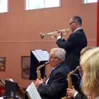 Musikcafèts trumpetsolist  Tonny Persson i A Trumpeter´s Lullaby.