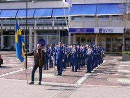 Gunnebo Musikkår klar för avmarsch
