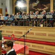 Musikkåren fick också vara med och spela med Kulturskolans blåsare.