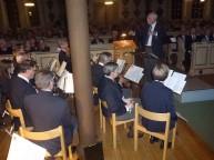 Dirigenten Gunnar Andersson som efter många år stiger av som dirigent för Gunnebo musikkår