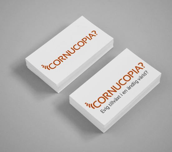 Design av logotyp för Cornucopia blogg Lars Wilderäng av Fröken Fokus design.