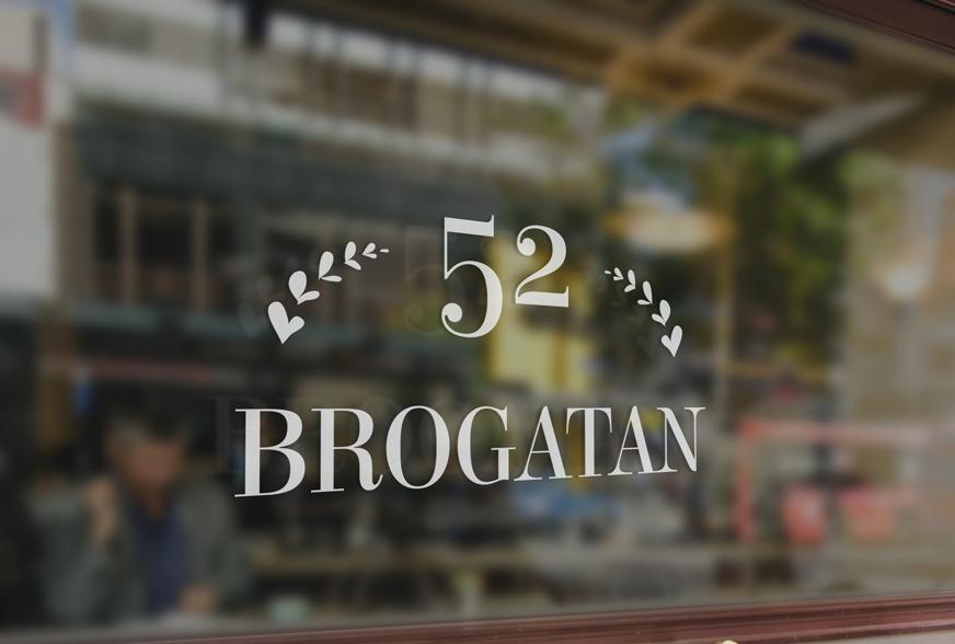 Design Logotyp Brogatan52 av Fröken Fokus i Halmstad