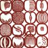Ateljéns sömnadservice kuddfodral Fruktlåda röd/vit mönster Stig Lindberg