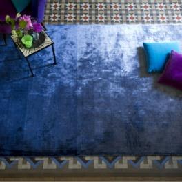 Designers Guild Matta Eberson - Cobalt Tre storlekar DHRDG0009-10, RUGDG0321 (FRI FRAKT)