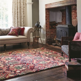 William Morris Matta Granada Red/Black art. 27600 Fyra storlekar