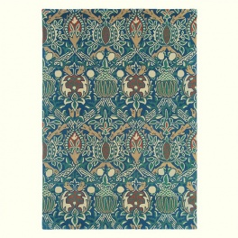 William Morris Matta Granada 27608 Indigo/Red PER M²