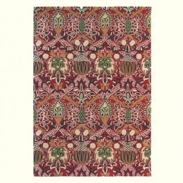 William Morris Matta Granada 27600 Red/Black PER m²