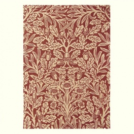 William Morris Matta Oak 27900 Crimson PER M²