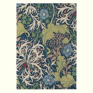 William Morris Matta Seaweed ink art. 28008 Fyra storlekar. Mattprov 30x30 cm som lån, Kampanj 25% rabatt på hela köpet över 5000 kr (gäller ej rea och tyger) KOD. GTGYTKXL - 140cm x 200cm