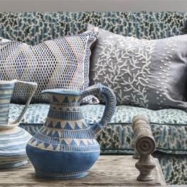 William Yeoward Tygkollektion TORCA möbel/gardin (3 tyger men i många färgställningar)
