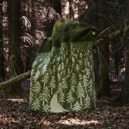 Klippans Yllefabrik Filt House in the forest-Grön (2-Pack)