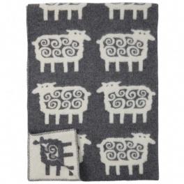 Klippans Yllefabrik Filt Sheep-Grå art.2208-02 (1-Pack) ECO