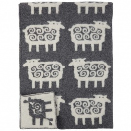 Klippans Yllefabrik Filt Sheep-Grå art.2208-02 (2-Pack) ECO