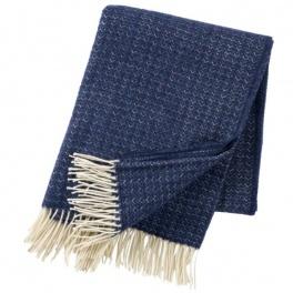 Klippans Yllefabrik Pläd Himalaya-Havsblå art.2087-03 (1-Pack) Extra mjuk 50%Cashmere 50%Merinoull