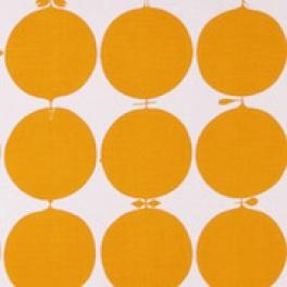 Tyg Tallyho Orange Bomull/Lin Formgivare Stig Lindberg