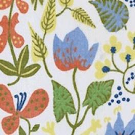 Tyg Herbarium Vit Trevira CS Voile Formgivare Stig Lindberg