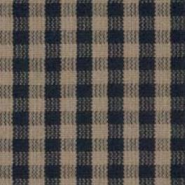 Tyg Berghem. Lillruta färg 290. Bomull 40%, Polyester 40%, Viskos 20%