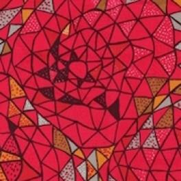 Tyg Oomph Röd Formgivare: Viola Gråsten 100% lin