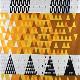 Tyg Pythagoras Gul, Trevira CS Sammet, Formgivare Sven Markelius